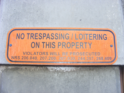 Inmate Search CCDC - No Trespassing or Loitering